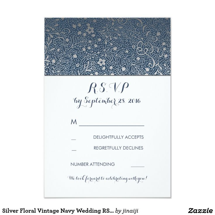 The 25+ best Silver wedding reply cards ideas on Pinterest ...