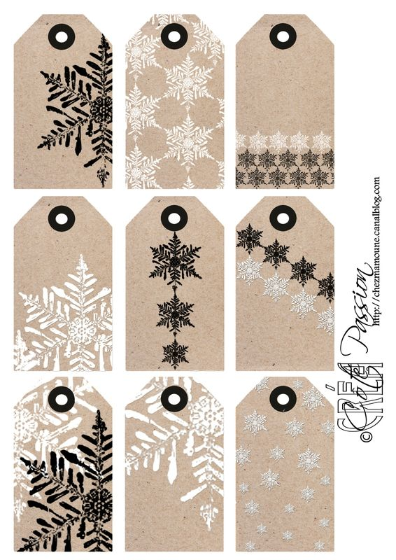 ☆...☆...☆... ........................... Christmas snowflake Tag Coté passion More