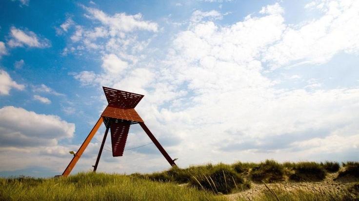 Seaman's navigation mark / beacon in Blokhus, Denmark