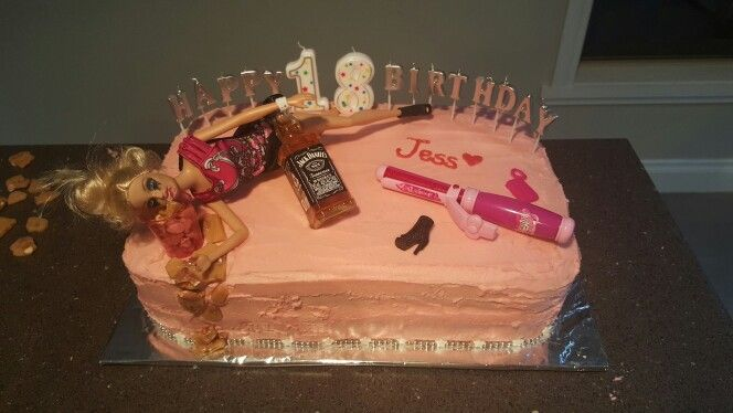 Classy 18th cake::chocolate cake with ganache filing::strawberry frosting