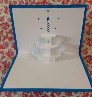 誕生日カードの作り方!飛び出すポップアップケーキを簡単手作り! | コタローの日常喫茶