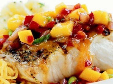 SWORD FISH MANGO SALSA  – Veggies – #Fish #Mango #Salsa #sword #Veggies – Easy Fish Recipes