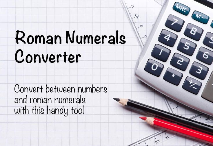 Roman numerals converter for dates