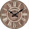 Relógio de Parede rústica Do Vintage Algarismos Romanos Retro Antigo Relógio de Parede De Madeira Relógio de Decoração Para Casa Design Moderno Relógio de Parede Na Parede