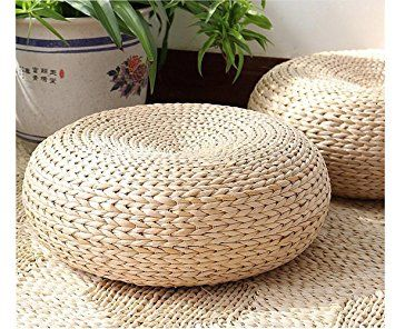 Love Baby Japanese Style Hand Woven Rush Straw Tatami Cushion Braid Futon