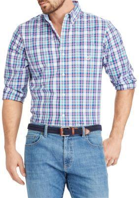 Chaps Men's Plaid Cotton-Blend Shirt - Multi - 2Xl