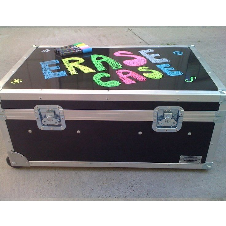 Erase Case XXL ATA College Footlocker Black with Recessed Wheels and Tray | FREE SHIPPING