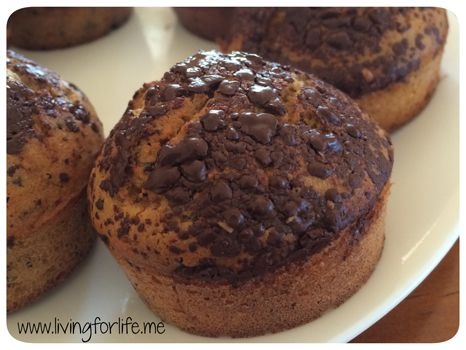 Choc chip muffins – gluten free, nut free, dairy free ‹ Living for life