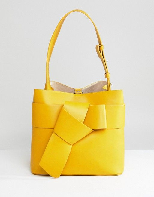 French Connection Knotted Bucket Bag