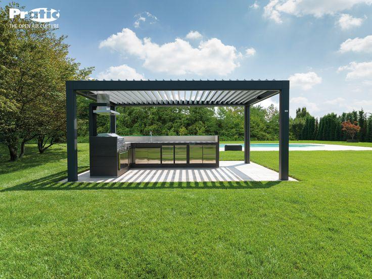 Una nuova installazione di Opera, la #pergola #bioclimatica dal #design elegante e raffinato, perfetta per essere inserita in qualsiasi contesto architettonico. www.pratic.it/bioclimatiche/opera.php