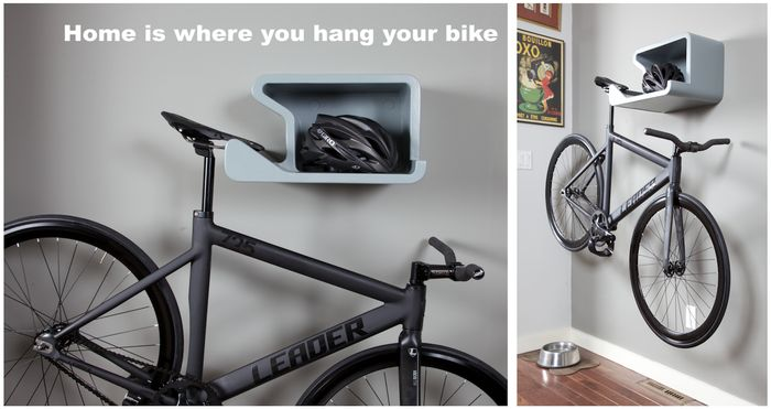 SHELFIE - home is where you hang your bike. by Juergen Beneke
