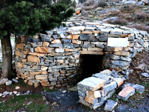Old traditional houses of Crete deep in the mountains