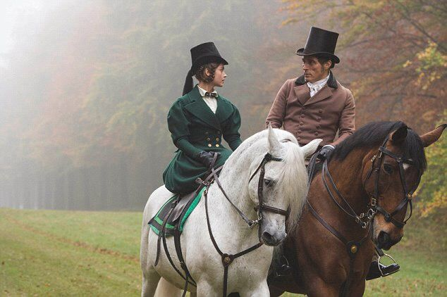 Promotional still of Queen Victoria and Lord Melbourne (Jenna Coleman and Rufus Sewell)