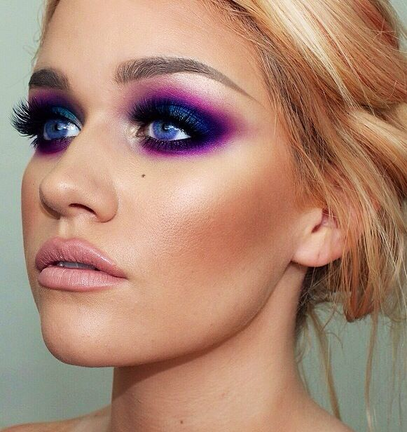 Purple smoky eye                                                                                                                                                                                 More