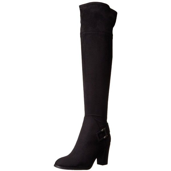 Marc Fisher Women's Christyna Slouch Boot ($39) ❤ liked on Polyvore featuring shoes, boots, short wedge boots, wide width ankle boots, knee high wedge boots, pointed toe flats and flat heel boots