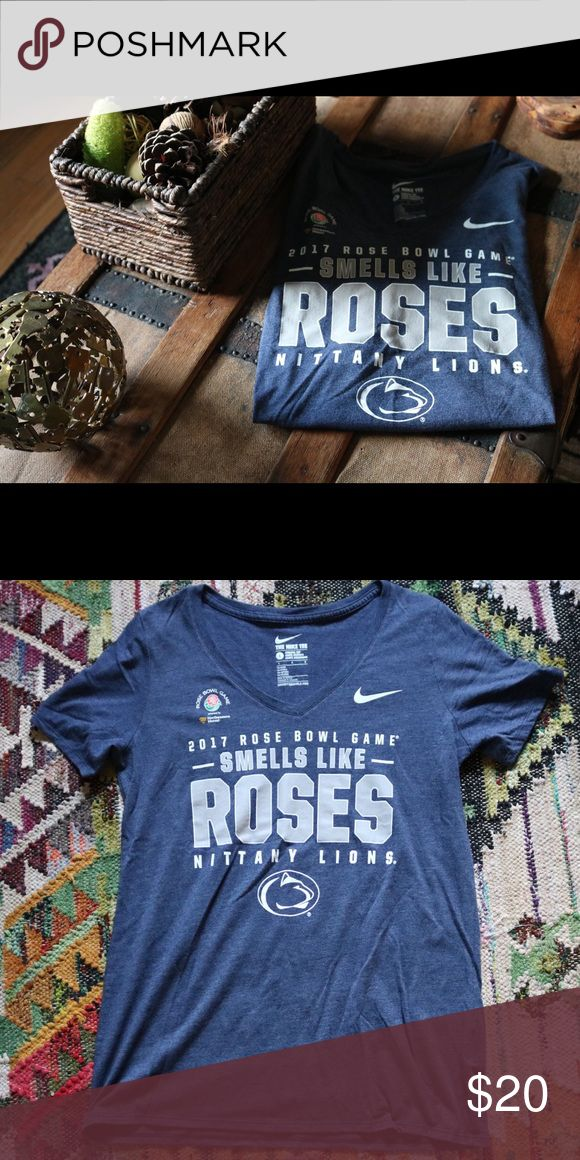 Penn State Rose Bowl tee Nike athletic fit tee to commemorate the 2017 Rose Bowl game. Size large but runs smaller. Excellent used condition. Nike Tops Tees - Short Sleeve