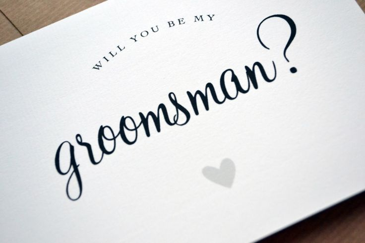 Wedding Greetings Card - Will You Be My Groomsman, Usher, Best Man, Page Boy, Ring Bearer Card with Kraft Envelope by AmysAvenueUK on Etsy https://www.etsy.com/listing/255662215/wedding-greetings-card-will-you-be-my