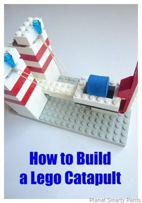 Ein Katapult aus Lego zum Selberbauen - das wird bestimmt mal ausprobiert!