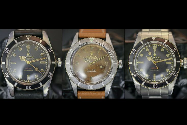 MONOCHROME: Ultra-Rare Early Rolex Submariner Ref. 6536 and Ref. 6538 Watches for Sale