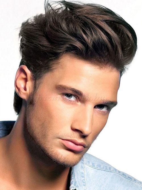 hátra fésült férfi frizurák, férfi frizurák 2015 - hátra fésült férfi frizura
