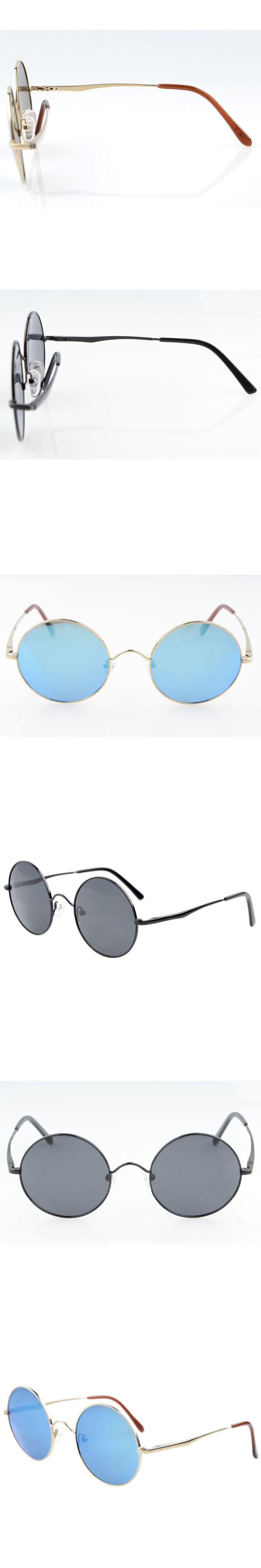 LS0007 Eyekepper Titanium Retro Round Large Frame Spring-hinged Polarized Sunglasses