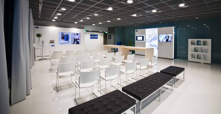 KONE customer visit experience by Pentagon Design
