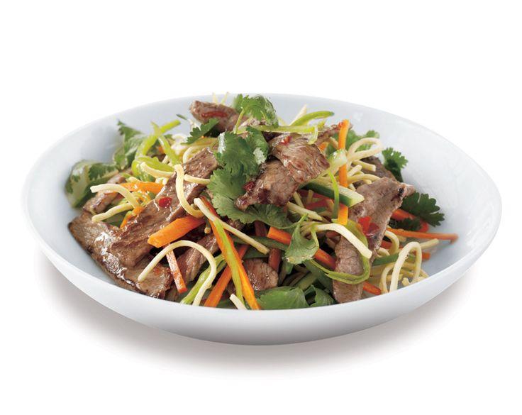 Beef Salad with Crunchy Noodles Recipe | beef   lamb new zealand inc
