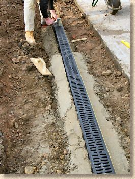 Linear Channel Being Laid St Louis St Charles