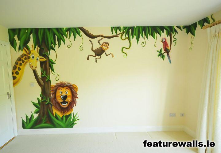 Kids farm mural | jungle room boys space room mural