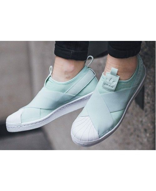 Adidas Superstar Slip On Women Mint Green Shoe