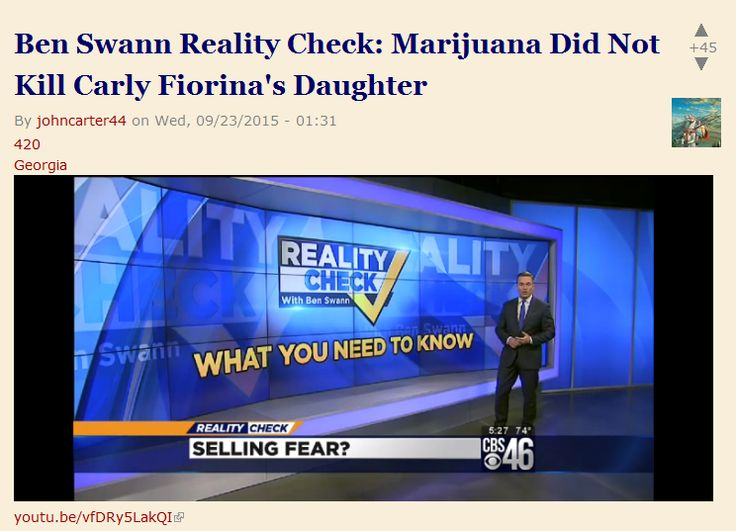 Ben Swann Reality Check: Marijuana Did Not Kill Carly Fiorina's Daughter