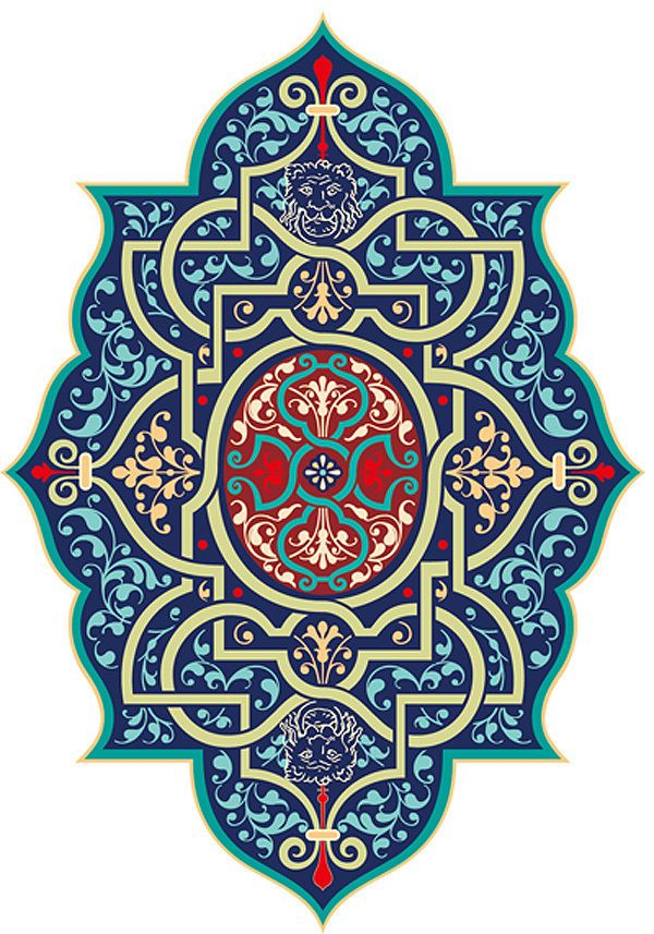 HandPainted Design Needlepoint Canvas Persian Vines