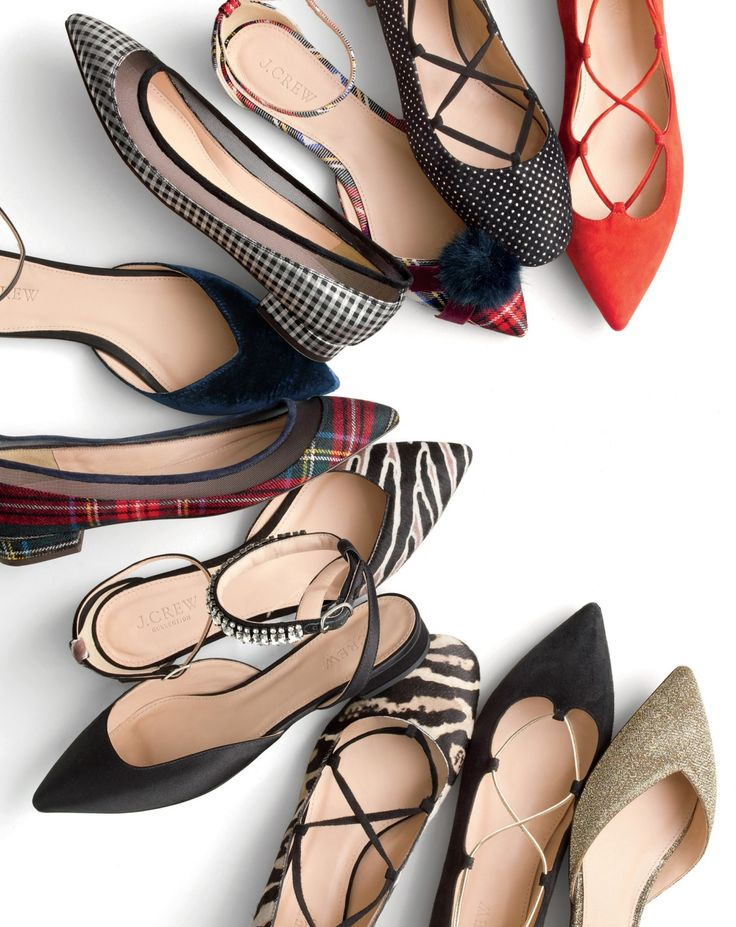 J.Crew women's festive flats. Because it's the holidays, and really, who knows when a dance-off will break out…