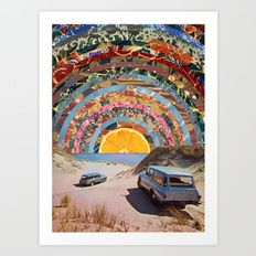 Art Print featuring Orange Sunset by Blaž Rojs