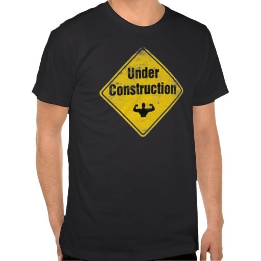 BODY UNDER CONSTRUCTION MEN FITNESS GYM T SHIRTS. GET IT ON : http://www.zazzle.com/body_under_construction_t_shirts-235479639171124931?view=113869375693768955&rf=238054403704815742