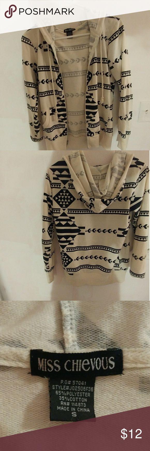 Cute Hoodie Black and white zip-up hoodie Miss Chievous Sweaters