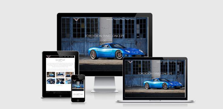 Website design for Toroidion Ltd
