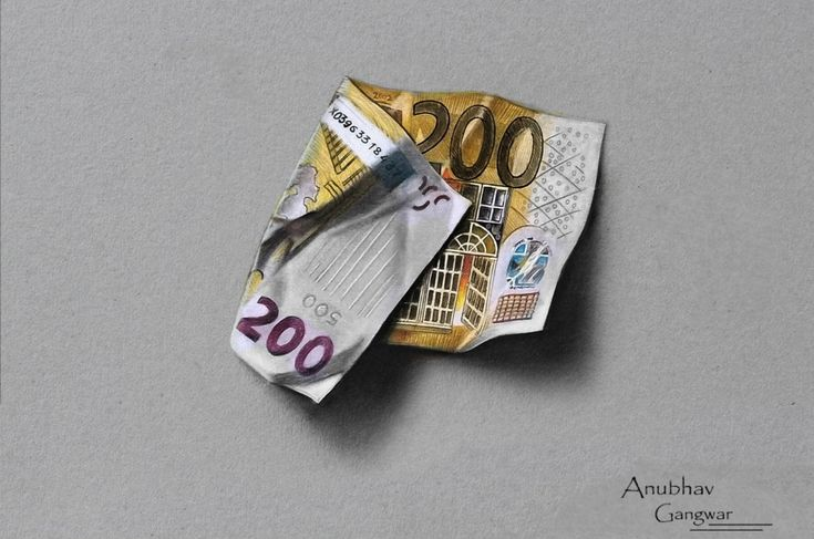 """200 Euro Drawing""  Its a copy work if marcello barenghi"