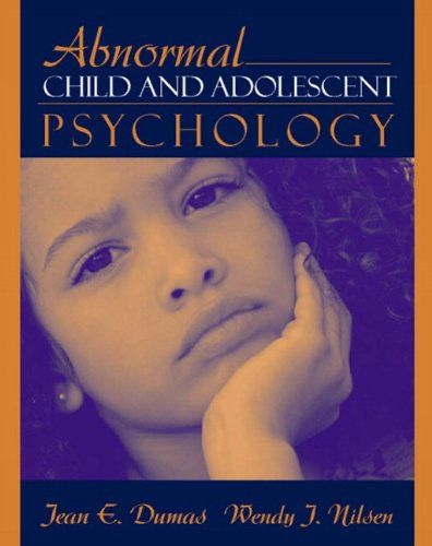 Abnormal Child And Adolescent Psychology Products