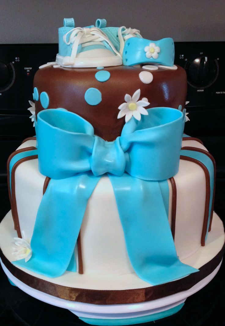 Baby Shower Cakes Brown And Blue