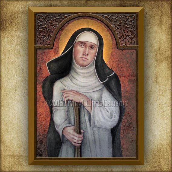 Blessed Margaret of Castello Wood Icon & Holy Card GIFT SET Plaque Pro-Life Movement #3207