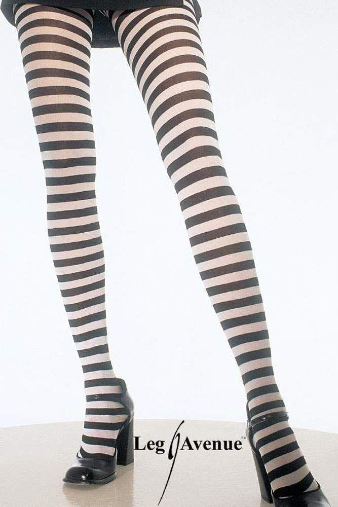 Blickdichte trendy Ringel-Strumpfhose in diversen Farben