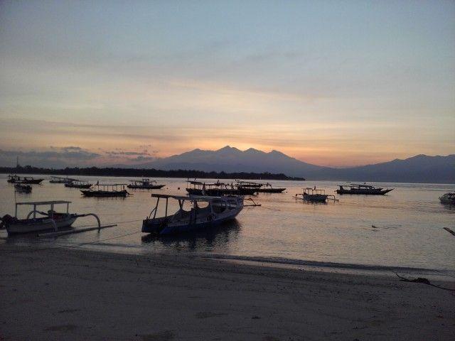 Sunrise di Gili Trawangan, Nusa Tenggara Barat