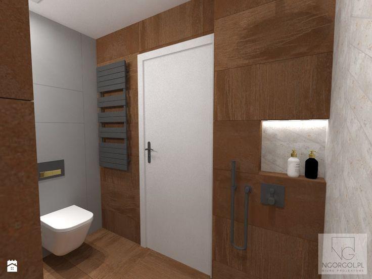 Łazienka - mix corten+beton+złoto - zdjęcie od NGORGOL - Łazienka - Styl Industrialny - NGORGOL