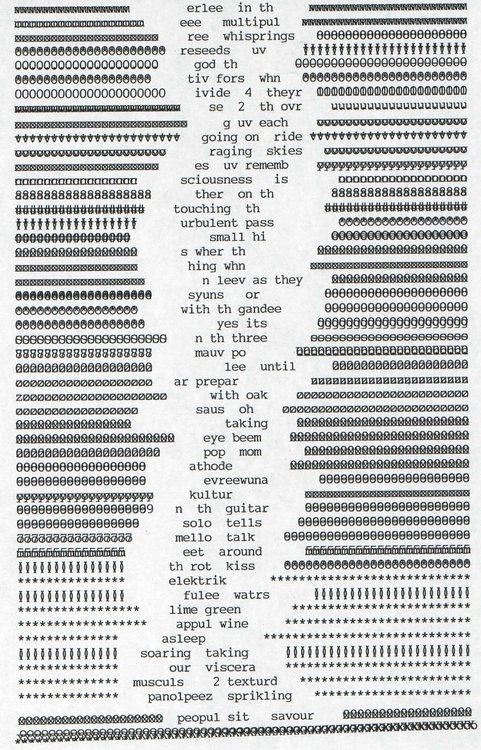 Bill Bissett, via. http://text-mode.tumblr.com/tagged/typewriter#