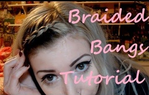15 Braided Bangs Tutorial: Side Swept Bangs Hairstyle
