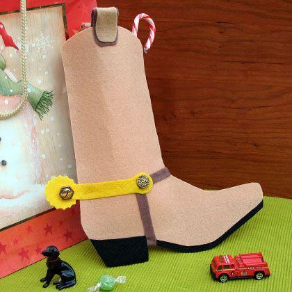 Sheriff Woody's Cowboy Boot Stocking | 25 Days of Disney Christmas Crafts and Recipes | Disney | Disney Family.com