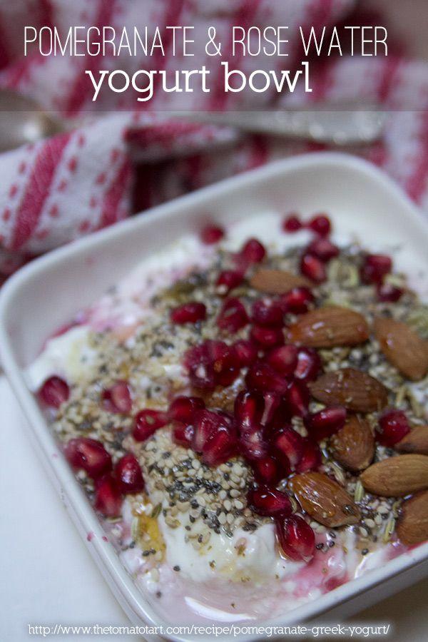 ... yogurt mint and pomegranate seeds pomegranate molasses and pomegranate