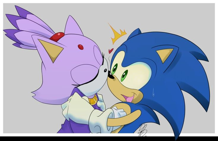 Blaze The Cat And Shadow The Hedgehog Kissing