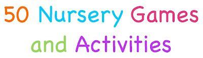 Nursery Games & Activity ideas  Tons of great ideas for nursery and preschool!!